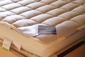 ビラベック麻面付きウールベッドパッド