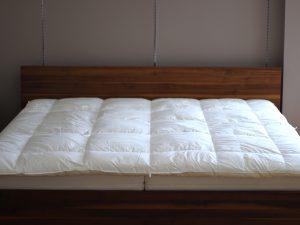 京都西川の羽毛布団を冬用にリフォーム